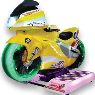Motorrad Simulator gelb
