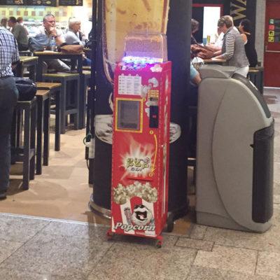 Popcornautomaten Aufstellbeispiel